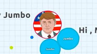 Agar.io - Jumbo VS DONALD TRUMP | Last Man Standing ( Solo Agario Gameplay )