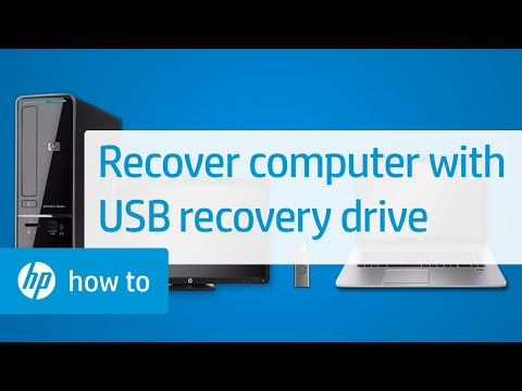 Performing an HP System Recovery with a USB Recovery Drive