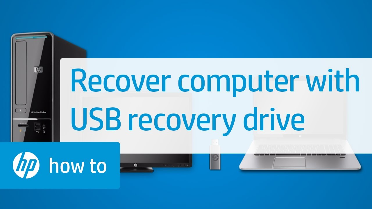 How to Recover Your HP Computer with a USB Recovery Drive  YouTube