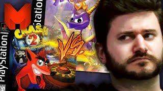 The BEST PS1 Games? Crash Bandicoot 2 vs Spyro the Dragon - Madness