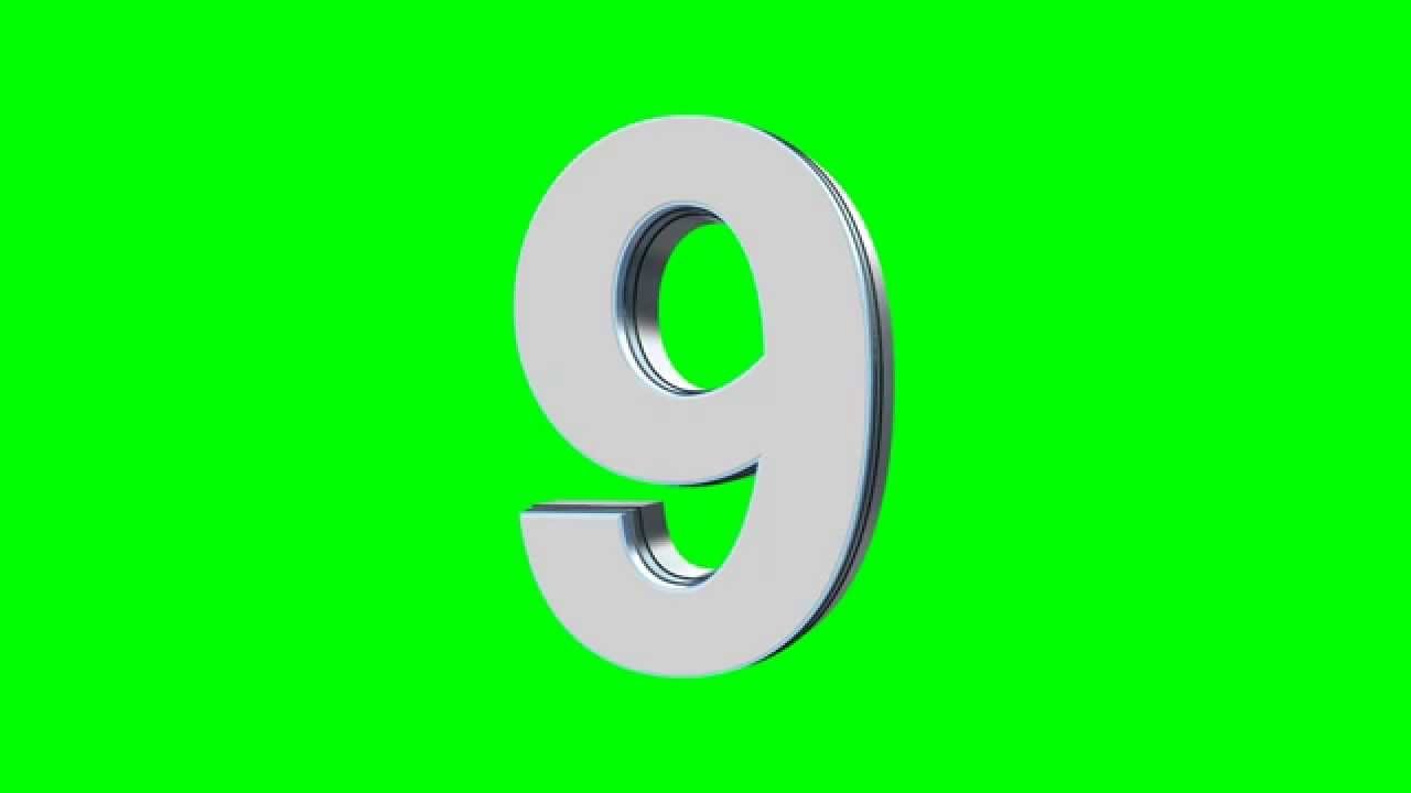 Numbers 3d Countdown In Green Screen Free Stock Footage