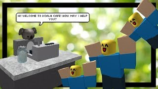 Working at Koala Cafe | ROBLOX Koala Cafe