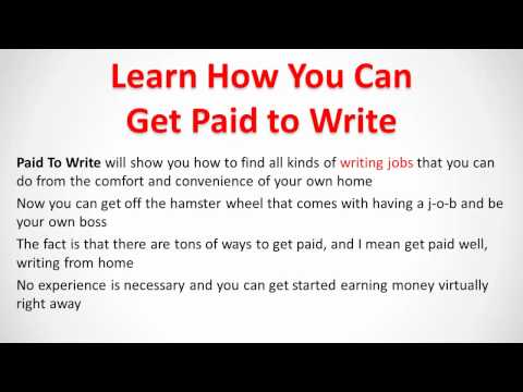 how to get a writing job