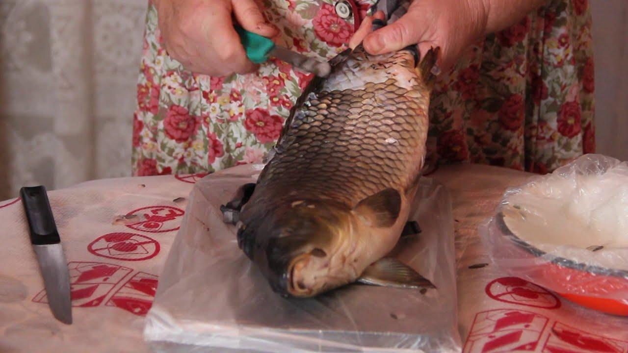 Как почистить рыбу от чешуи, Как почистить рыбу чтобы чешуя не разлеталась