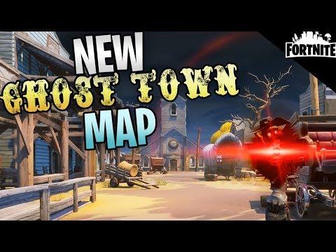 "FORTNITE - New Ghost Town Map ""Gravestone"" (Fight The Gunslinger Quest)"
