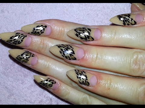 Easy gold cheetah pattern nude almond shaped acrylic nail design easy gold cheetah pattern nude almond shaped acrylic nail design youtube prinsesfo Gallery