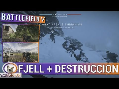 BATTLEFIELD V NUEVO GAMEPLAY DE FJELL + DETALLES DESTRUCCION