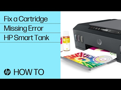 Fix Cartridges Missing Error | HP Smart Tank 500 and 600 Printer Series | @HPSupport