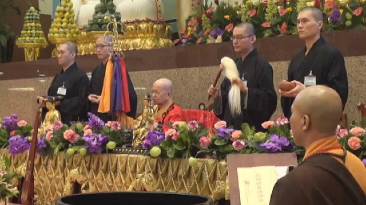 103-12-07本蓮社-三壇大戒--恭請得戒和尚 淨心長老上堂開示-過堂 - YouTube