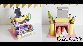 DIY Desk Organizer Using Toilet Paper Rolls | Recycling