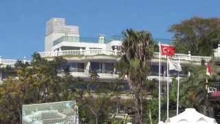Crystal Sunset Luxury Resort & Spa 5* . Turkey Side . Пляж .(Crystal Sunset Luxury Resort . Небольшое видео о пляже турецкого отеля Кристал Сансет Резорт . Песчаные пляжи Сиде в Турц..., 2013-11-25T13:48:44.000Z)
