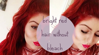 NO BLEACH BRIGHT RED HAIR | LOREAL MAJICONTRAST TUTORIAL