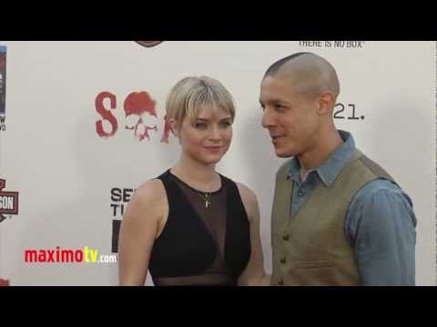 Theo Rossi and Sarah Jones SONS OF ANARCHY Season Five Premiere ARRIVALS