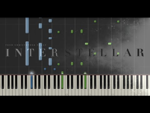 Interstellar  Main Theme  Hans Zimmer Synthesia Piano Tutorial