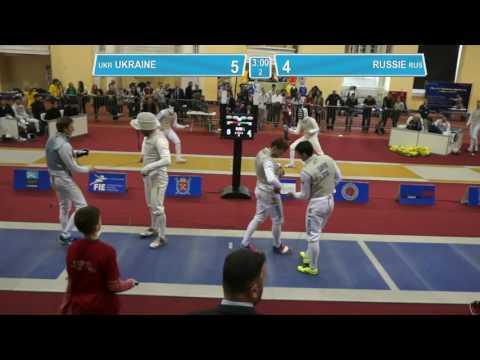 T8. RUSSIE - UKRAINE. Foil men teams.