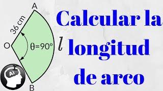 Como calcular longitud de arco en un sector circular, trigon...
