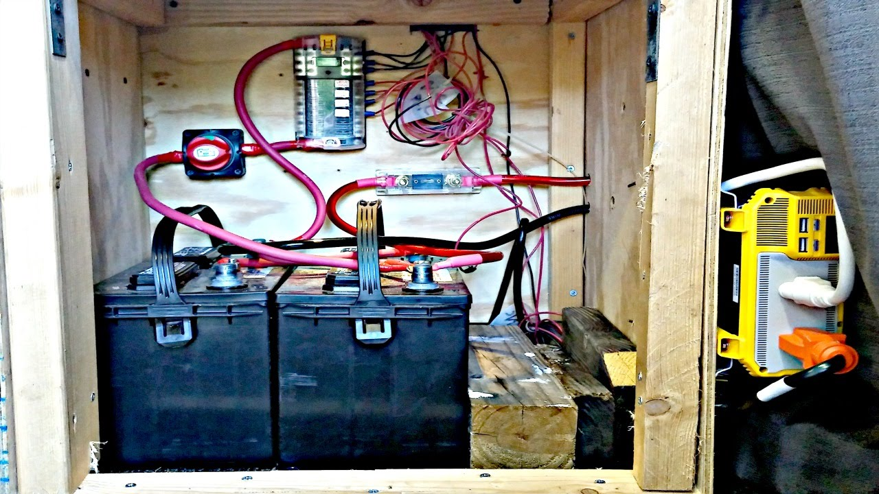 Van Life Campervan Rv Electrical System Explained Battery Bank Wiring Diagram Converter Wire Gauge Inverter Solar Ect Youtube