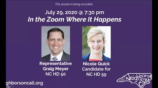 The Zoom Where It Happens: Rep. Graig Meyer with Nicole Quick