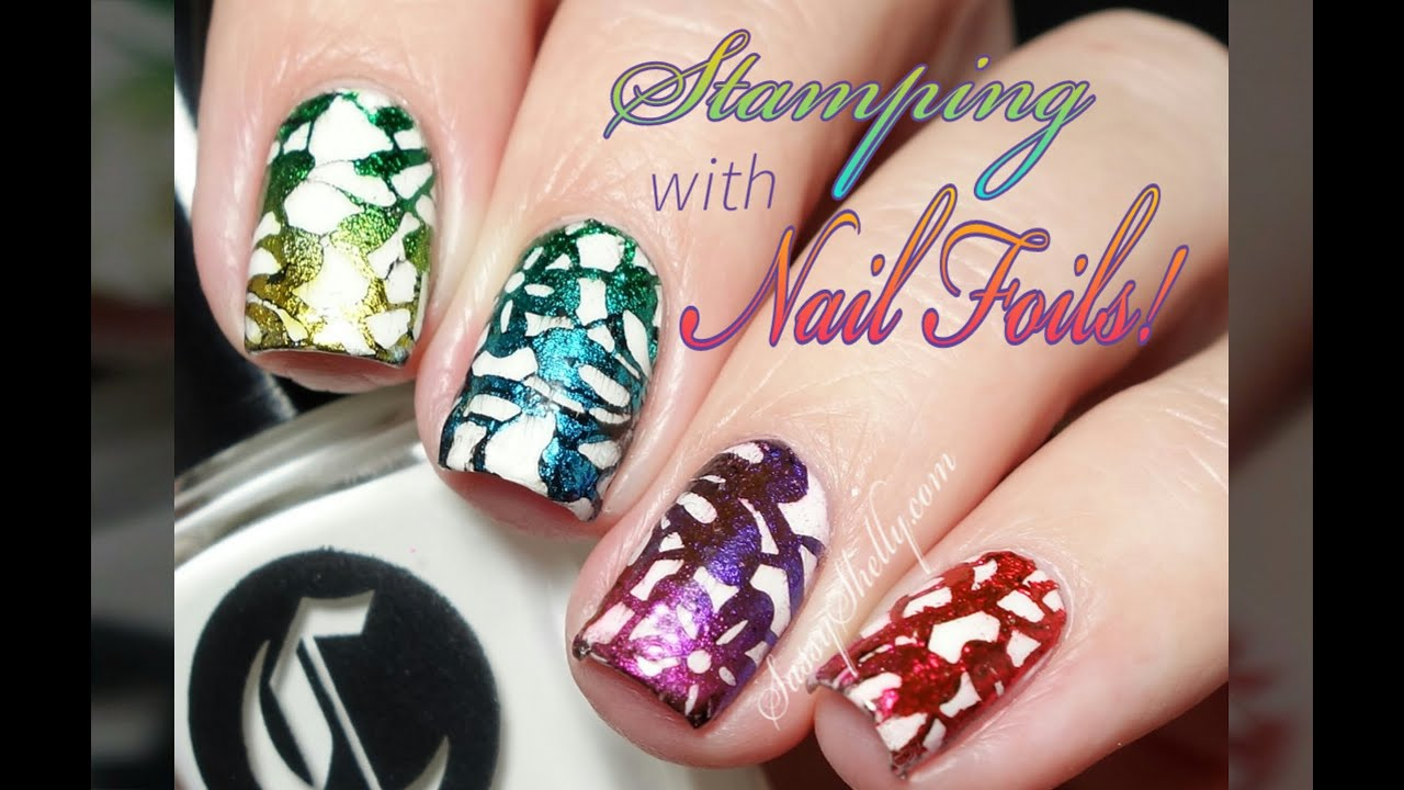 Stamping With Nail Art Foils Success Finally Youtube