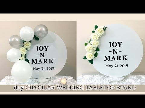 DIY Circular Circle Wedding tabletop Stand Centerpiece