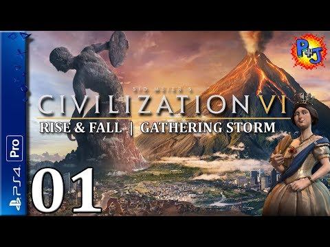 Let's Play Civilization VI PS4 Pro | Victoria England Gameplay Episode 1 | Civ 6 Console Expansions