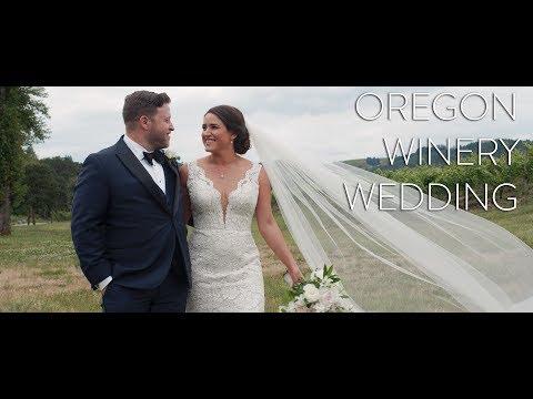 Stunning Winery Wedding in Oregon   Liz + Jason
