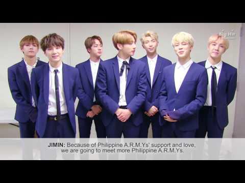 BTS WINGS TOUR in MANILA | GREETINGS
