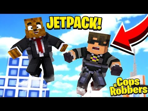 *JETPACK MODDED* COPS AND ROBBERS W/ SKYDOESMINECRAFT - MINECRAFT MODDED MINIGAME