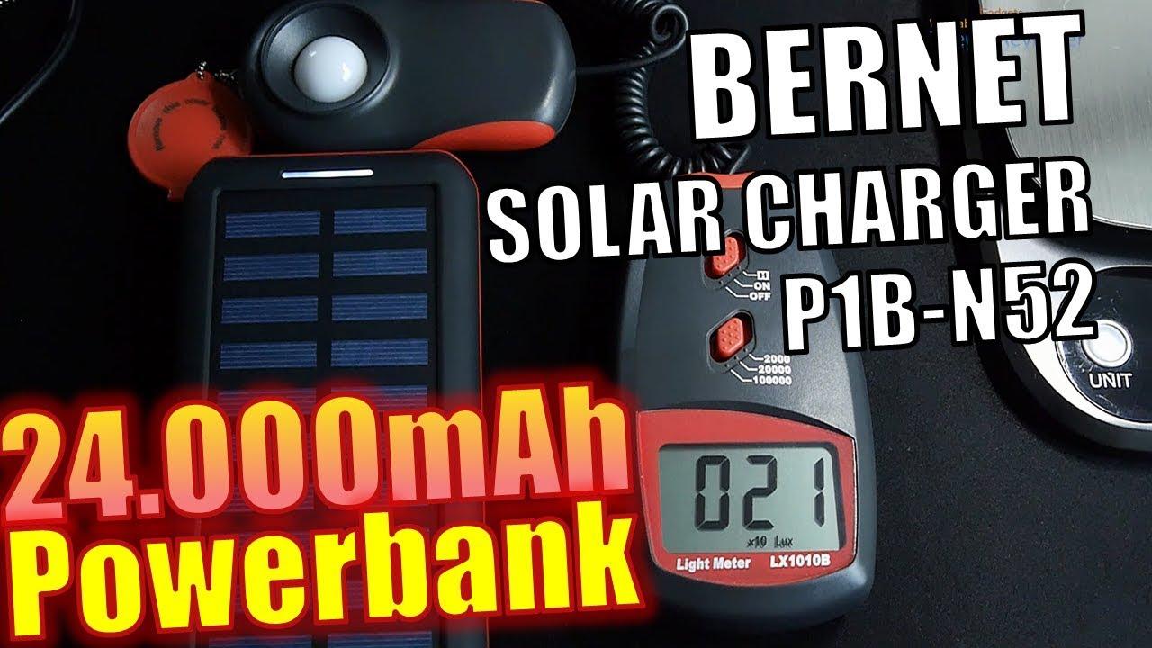 Bernet Solar Charger P1 Test Powerbank 24 000mah 88 8wh Hands On Deutsch Youtube