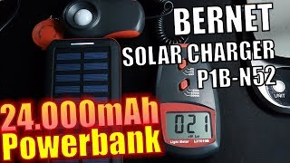 BERNET Solar Charger P1 - Test - Powerbank  24.000mAh 88.8Wh - Hands...