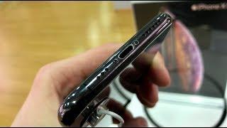 Как облезает рамка iPhone XS space gray
