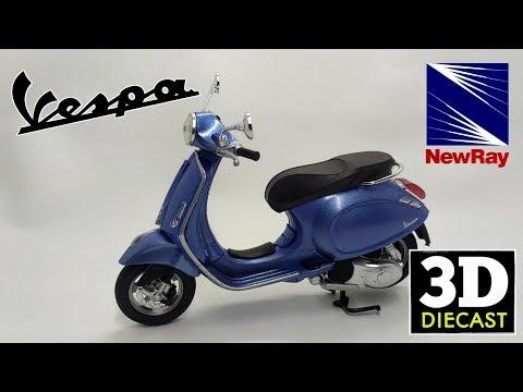 Newray 1/12 Vespa Primavera Light Blue