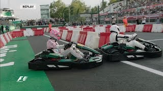 F1 v Champions League Stars: Heineken Karting Event at Monza