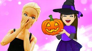 Фото Готовимся к Хэллоуину! Игры для детей с Барби. Видео мультики с куклами для девочек