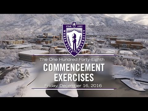 Weber State University Fall 2016 Commencement