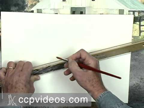 Drawing Straight Lines With Brush In Photo : Painting with a straight edge in acrylic charles harrington