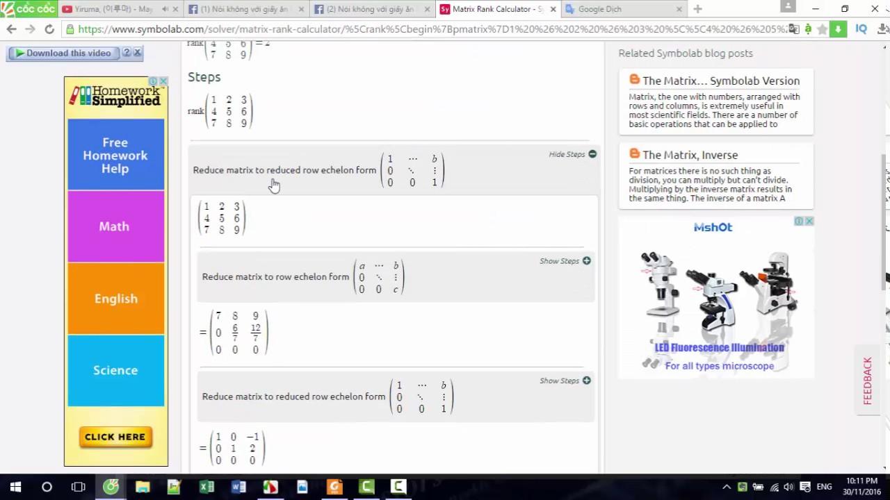 Giải toán cao cấp bằng công cụ Symbolab
