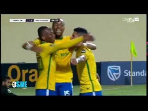 أهداف مباراة الزمالك 1 2 صن داونز الجنوب إفريقي دوري أبطال
