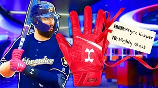 BRYCE HARPER GAVE ME HIS BATTING GLOVES! MLB The Show 19 | Road To The Show #16