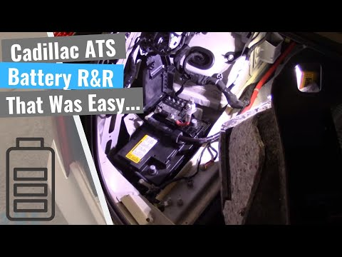 Cadillac ATS: Battery Remove & Replace