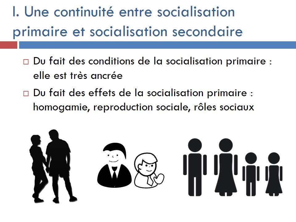 socialisation primaire et secondaire rupture ou continuité dissertation