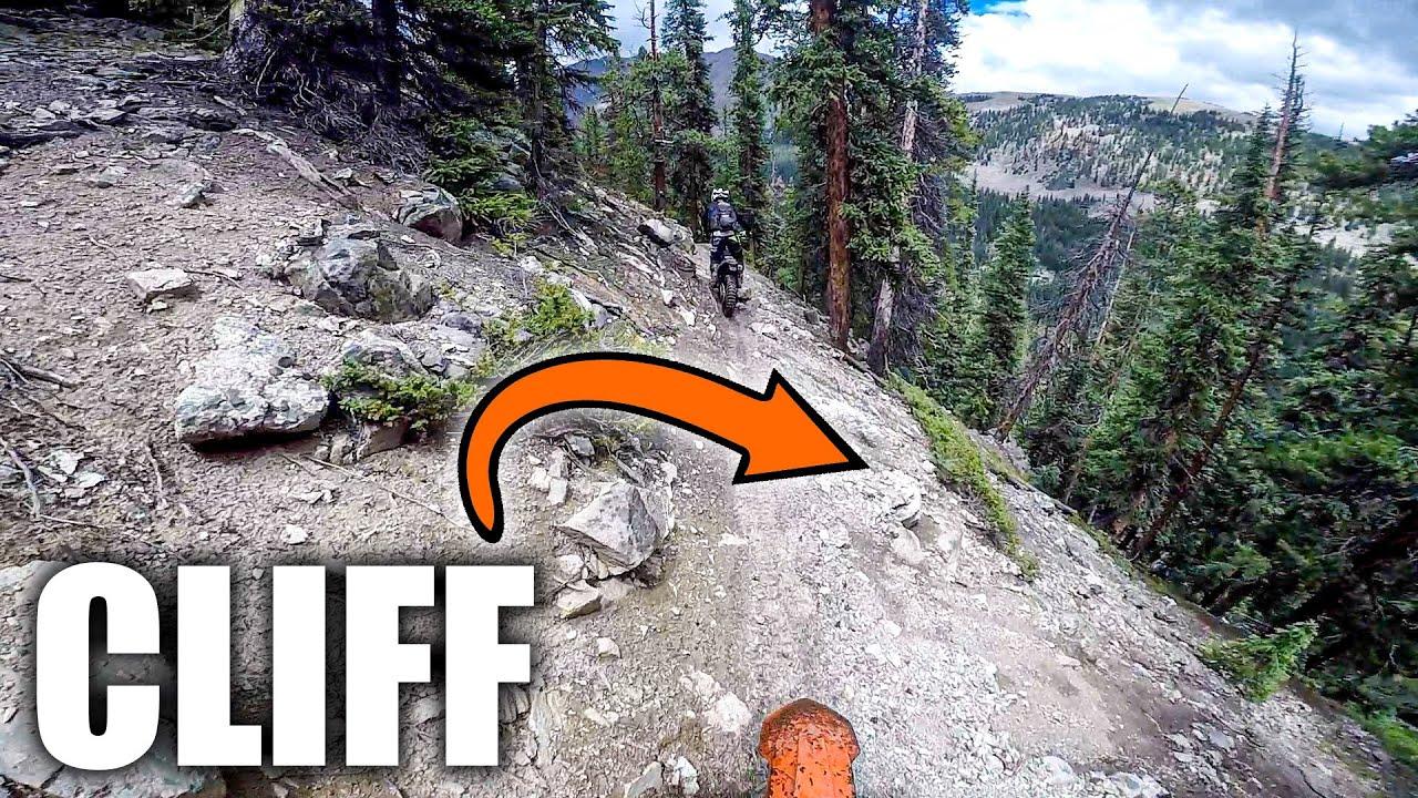 Riding Dirt Bikes On The Edge Of A Mountain..