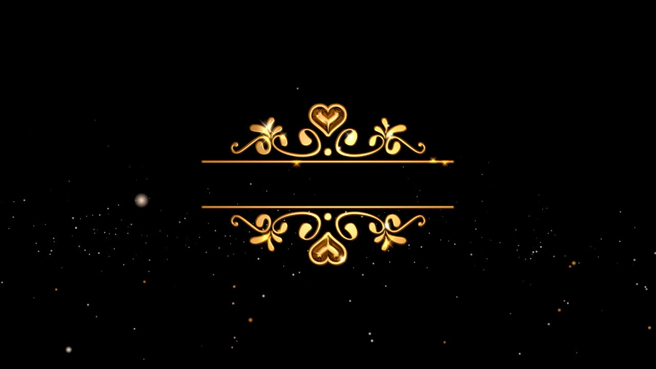 Wedding Intro Video Background Free Border Gold Text Youtube