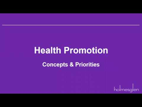 Health Promotion concepts & priorities