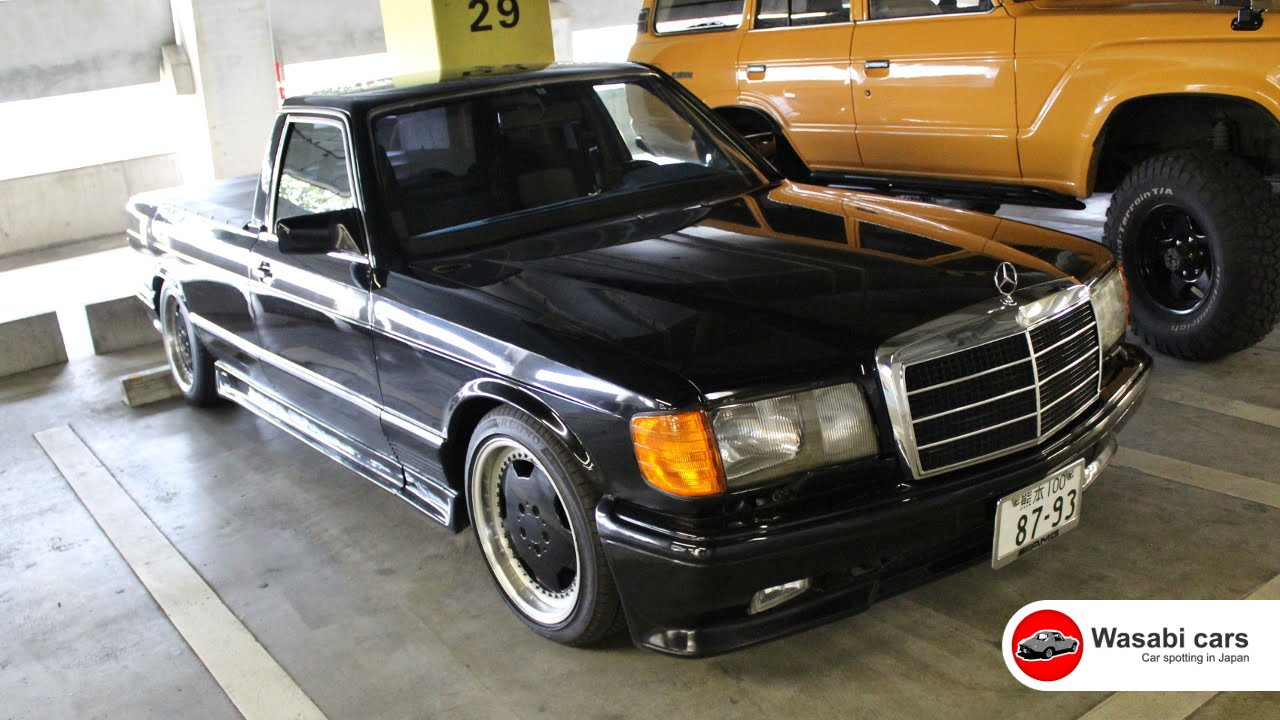 pickup mercedes benz w126 ute former hearse youtube. Black Bedroom Furniture Sets. Home Design Ideas