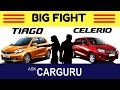 Maruti CELERIO vs Tata TIAGO, CARGURU, हिन्दी में, Engine, Top Speed, Service, Safety All Details