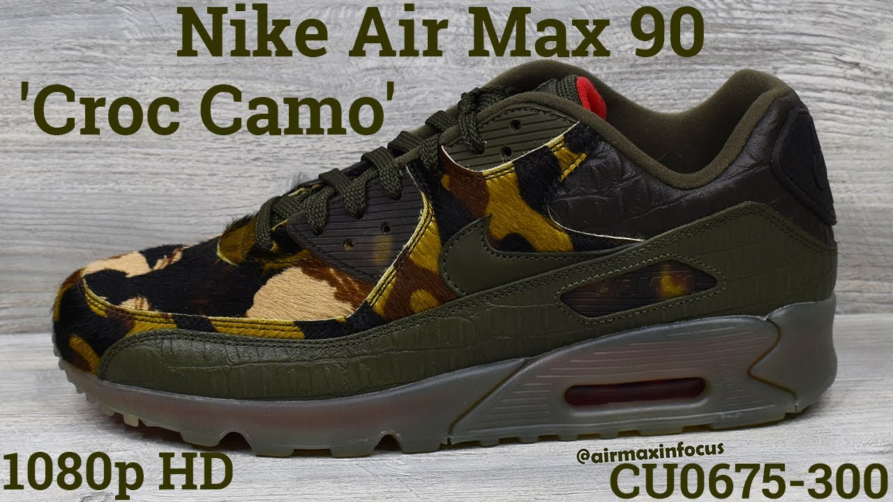 Nike Air Max 90 'Croc Camo' CU0675-300 (2019) An Unboxing and Detailed Look! Animal Print