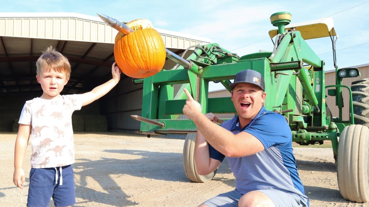 Using tractors on the farm to destroy things | Tractors for kids