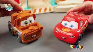 Kétemeletes garázs kisautóval Vroom Planet Cars Sm