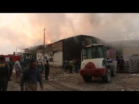 احتراق مخازن القمح في الموصل  - نشر قبل 6 ساعة